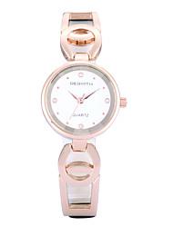 REBIRTH Dámské Módní hodinky / Křemenný PU Růže pozlacená Kapela Běžné nošení Elegantní Černá