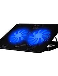 2 ventiladores ergonómica ajustable refrigerador almohadilla con el sostenedor del soporte para el cuaderno del ordenador portátil de
