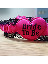 Rose red Bride to be Garter