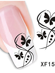 1pcs  Flower and Butterfly Water Transfer Nail Sticker