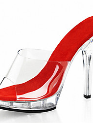Summer / Fall Heels / 13CM simple cool drag/ Charm High Heels Sandals /  / Platform / Slippers PVC Wedding / Party  /