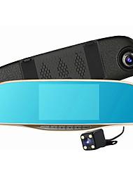 lente dupla 5 polegadas visão gravador de monitor de 1080p de condução do carro noite visão noturna gravador de condução