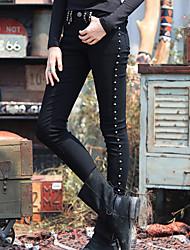 Aporia.As® Damen Mittlere Hüfthöhe Jeans Schwarz Bequem Hose-MZ11035