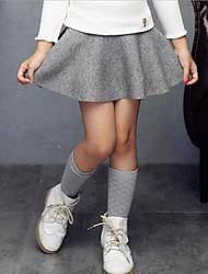 Girl's Casual/Daily Solid Dress / Skirt,Others Spring / Fall Black / Pink / Red / Gray