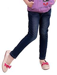 Girl's Cotton Spring/Autumn Fashion Bowknot Children Jeans