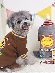 Hunde Pullover Braun / Grau Hundekleidung Winter / Frühling/Herbst einfarbig / Tier Lässig/Alltäglich Other