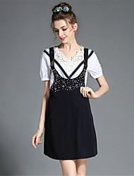 aofuli mulheres plus size retro rendas cintas talão blusa vestir dois conjuntos peça