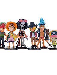 One Piece Black Full Set of 24 Generation 6PCS One Piece Luffy Sauron Joba Anime Action Figure