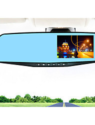 New Driving Recorder Dual Lens Mirror Recorder HD Wide-Angle Car DVR