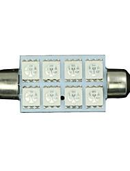 10 x 42mm ultra bleu 5050 feston dôme carte intérieur Ampoule LED 211-2 578 569