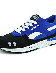 Chaussures Hommes-Extérieure-Bleu / Rouge / Noir et blanc-Tulle-Sneakers