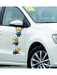 petit homme jaune voleur papa rétroviseurs du véhicule porte miroir autocollants lahua ornement de capot gratter autocollants e-52