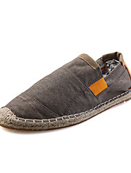 Summer Autumn Breathable Canvas Slip-on Loafers for Man's Lazy Shoes for Walking