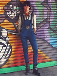 Aporia.As® Women's High Rise Jeans Blue Casual Pants-MZ11045