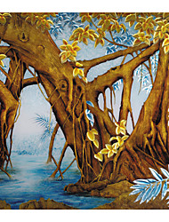 JAMMORY 3XL(14'7''*9'2'')3D Wallpaper For Home Contemporary Wall Covering Canvas Material Painting Tree