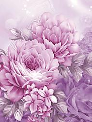 Fleur / Décoration artistique / 3D Fond d'écran pour la maison Contemporain Revêtement , Toile Matériel adhésif requis Mural , Chambre