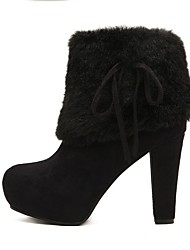 Women's Boots Winter Heels Other Animal Skin Dress / Casual Chunky Heel Others Black / Blue Walking
