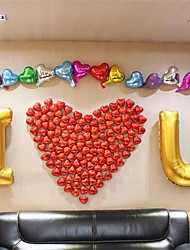 Alphabet Letters I Love You Balloons Set(214 Balloons, 1 Inflator, 1 Tape) For Wedding Party Decoration