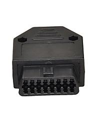 OBD2 de 16 pines conector hembra del adaptador OBDII w / tornillos herramienta de diagnóstico del coche
