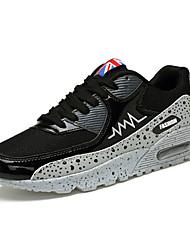 женская обувь пу стили весна / осень / круглый носок кроссовки случайные плоские пятки раскол сустава / шнуровке черный / белый / серый