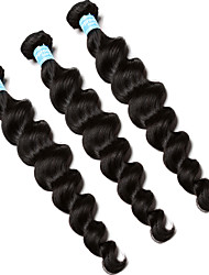 6A Peruvian Virgin Hair 3 Pcs Peruvian Loose Wave 100% Unprocessed Human Hair Extensions CARA Hair Products Curly Weave