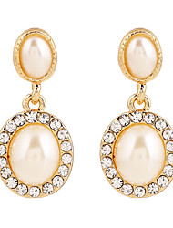 Fine Jewelry European Style High-Grade Diamond Zinc Alloy Earrings