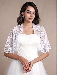 Stole da donna Coprispalle Mezze maniche Pizzo Bianco Matrimonio / Da sera / Casual Ovale 30cm Pizzo Aperte