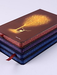 Luminous Tree Hardcover Hard Copy High-end Notebook 48K (Random Colors)