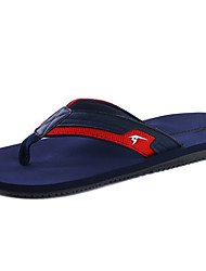 Men's Slippers & Flip-Flops Summer Flats PU Casual Flat Heel Others Black Yellow Red Black and White Water Shoes