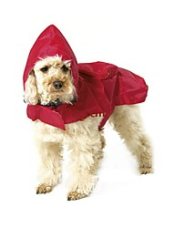 Cat / Dog Rain Coat Red / Blue / Black Dog Clothes Summer / Spring/Fall Solid Waterproof