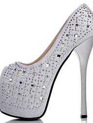 Women's Sandals Spring / Summer/Fall Heels Glitter Party & Evening / Dress / Casual Stiletto Heel Glitter Black /Silver