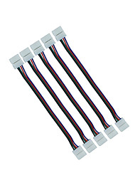 5pcs 10mm 4pin rgb fil connecteur double fil jack pour connecter 5050 rgb conduit bande à bande