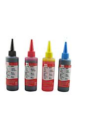 compatible avec l'impression hp ink100ml un pack de 4 cases, chaque case de couleurs différentes, à savoir: noir, rouge, jaune, bleu