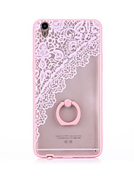 Ring Holder Frosted /  Translucent / Embossed / Pattern Lace Flower Printing  TPU for iPhone 6/6s/6plus/6s plus