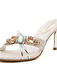 Women's Sandals Crystal Sparkling Glitter Heel Casual/Dress Sandal with Gold and Silver Colors Available