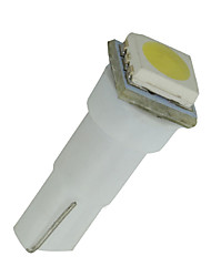 10pcs voiture t5 5050 1SMD coin xénon blanc ampoules LED 74 17 18 37 70 2 721