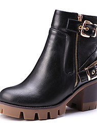 Women's Boots Fall / Winter Fashion Boots / Motorcycle Boots / Combat Boots / Round Toe Outdoor / Casual Platform