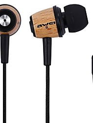 Awei Q9 Super Bass Wooden Headphones Earphones Headsets Fiber Cable for Mp3 CellPhone