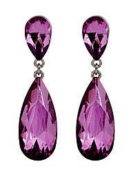 Fine Jewelry Korean Fashion Charms Purple Crystal Earring
