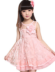 Girl's Casual/Daily Solid Dress,Others Summer Pink / Yellow
