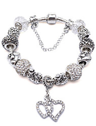 Strand Bracelets 1pc,Silver Bracelet Fashionable Circle 514 Alloy Jewellery
