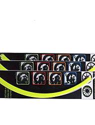 Hub Reflective Stickers Car DIY Modified Paste Automobile Wheel Tire Decals Stick Reflective Personality
