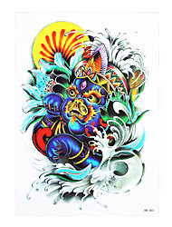 1pc Temporary Tattoo Kylin Design Women Men Flower Arm Body Art Waterproof Chinese Dragon Tattoo Sticker HB-383