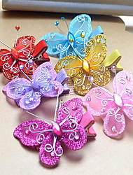Korean Flower Girl's Fabric Butterfly  Hair Clip