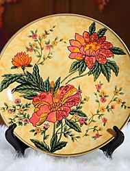 Continental Pottery Painted Decorative Plate Ornaments Home Accessories