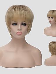 perruque lumière dorée europe et aux états-unis un nouveau style de cheveux courts cheveux pelucheux perruques perruque synthétiques