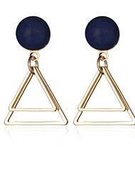 Brinco Forma Geométrica / Triangular Jóias 1 par Fashion / Vintage Casamento / Pesta / Diário / CasualLiga / Prata Chapeada / Chapeado