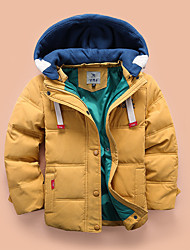 Girl's Casual/Daily Solid Down & Cotton Padded,Cotton Winter Blue / Green / Red / Yellow