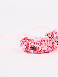 Fleurs de mariage Noué à la main Roses Petit bouquet de fleurs au poignet Mariage / Le Party / soirée Polyester / Mousseline / Mousse