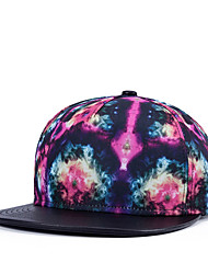 Hip Hop Women Men Street Dance Abstract Galaxy Fire Print Adjustable Patchwork 3D Baseball Cap